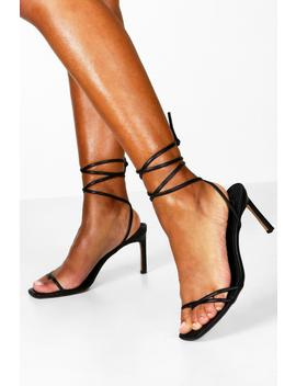 Wrap Strappy Heeled Sandals by Boohoo