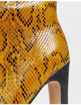 Asos Design   Evolution   Bottines En Cuir   Jaune Serpent by Asos Design