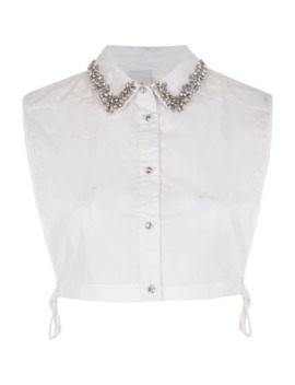 White Diamante Embellished Collar Bib by River Island