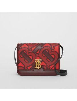 Medium Monogram Appliqué Leather Tb Bag by Burberry