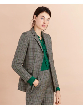 Plaid Wool Tweed Jacket by Brooks Brothers