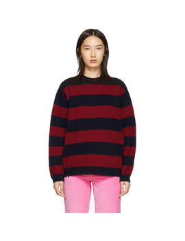 Red 'the Grunge' Crewneck Sweater by Marc Jacobs