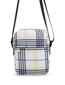 Plaid Zip Top Crossbody by Forever 21