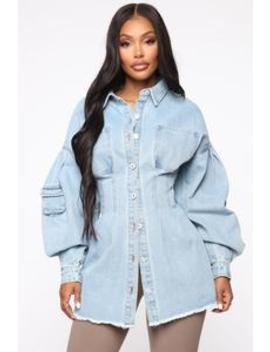 Day Tripper Denim Jacket   Medium Wash by Fashion Nova