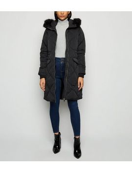 Urban Bliss Black Longline Puffer Jacket by New Look