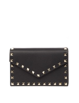 Valentino Garavani Black Leather Rockstud Shoulder Bag by Valentino Garavani