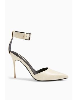 Glide White Ankle Strap Shoes by Topshop