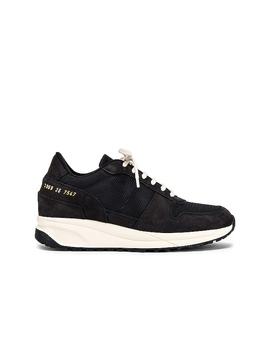Track Vintage Sneaker In Black by Common Projects