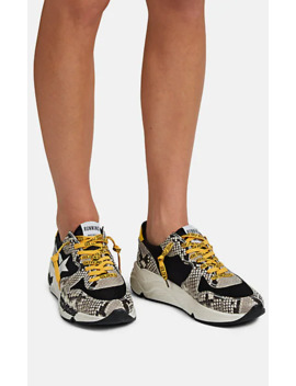 Women's Running Sole Stamped Leather Sneakers by Golden Goose