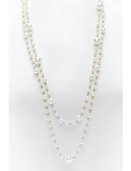 Layered Faux Pearl Necklace by Forever 21