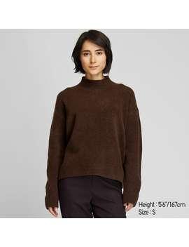 SoufflÉ Yarn Mock Neck Sweater by Uniqlo