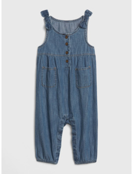 Baby Bow Denim Overalls by Gap