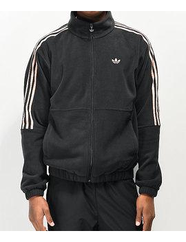 Adidas X Nora Black &Amp; Glow Pink Fleece Jacket by Adidas