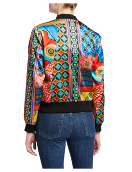 Lonnie Reversible Multi Print Bomber Jacket by Alice + Olivia