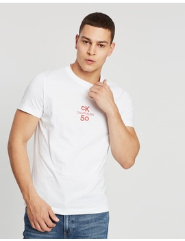 Small Logo Short Sleeve Slim Tee by Calvin Klein Jeans