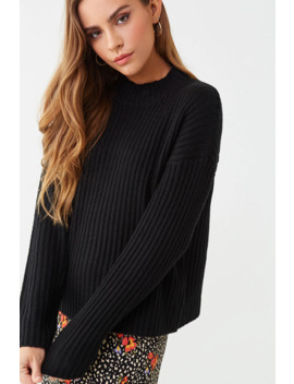 Wide Ribbed Sweater by Forever 21