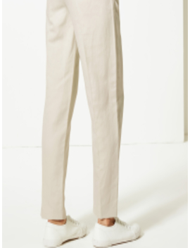 Women Grey Straight Fit Solid Formal Trousers by Marks & Spencer