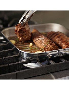 All Clad D5 Stainless Steel Square Grill Pan by Williams   Sonoma