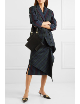 Ruffled Paneled Tartan And Striped Wool Blend Skirt by Pushbutton