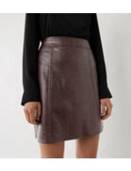 Faux Croc Pelmet Miniskirt by Warehouse