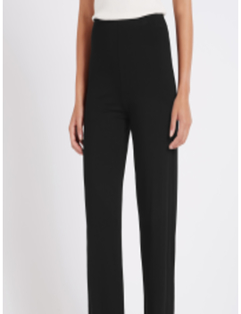 Women Black Solid Parallel Trousers by Marks & Spencer