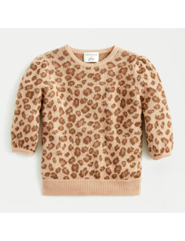 Demylee® X J.Crew Puff Sleeve Sweater In Leopard by Demylee