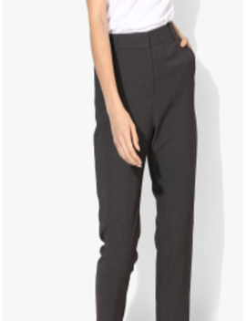 Charcoal Self Design Mid Rise Regular Fit Chinos by Marks & Spencer