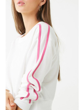 Striped Trim Sweatshirt by Forever 21