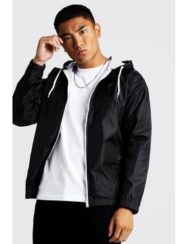 Hooded Zip Through Jacket by Boohoo