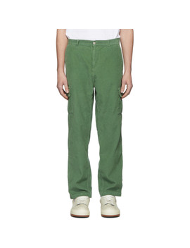 Green Corduroy James Bande Cargo Pants by Carne Bollente