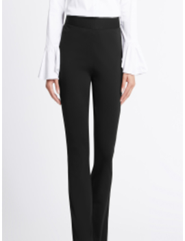 Women Black Regular Fit Solid Parallel Trousers by Marks & Spencer