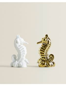 Seahorse Porcelain Salt And Pepper Shakers  Special Prices by Zara Home