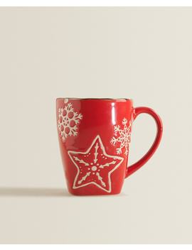 Stoneware Star Mug  View All   New In by Zara Home