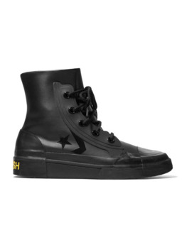 + Ambush Rubber Trimmed Faux Leather High Top Sneakers by Converse