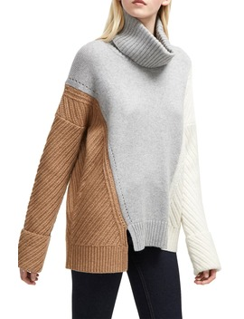 Viola Recut Turtleneck Sweater by French Connection