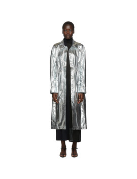 Silver Shirt Dress Coat by Markoo