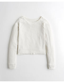 Dreamworthy Ribbed Crewneck Top by Hollister