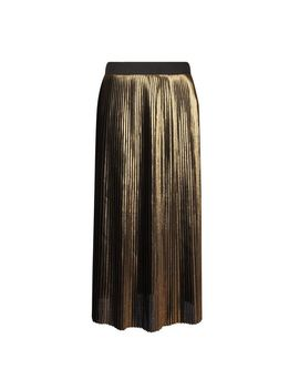 **Gold Pleated Skirt by Dorothy Perkins