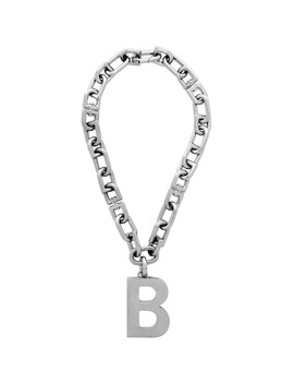 Silver B Necklace by Balenciaga