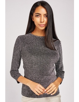Lace Back Lurex Top by Everything5 Pounds
