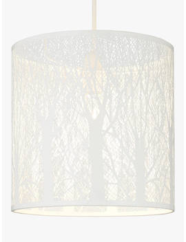 John Lewis & Partners Devon Easy To Fit Small Ceiling Shade, White by John Lewis & Partners