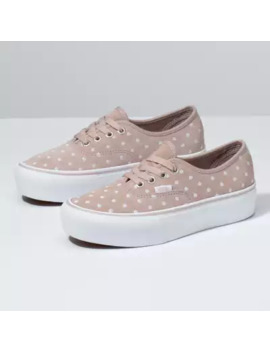 Suede Polka Dot Authentic Platform 2.0 by Vans