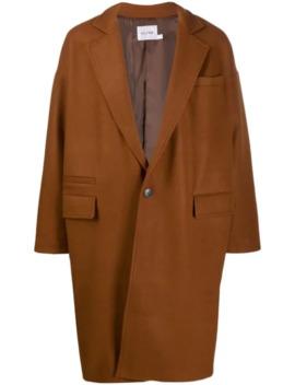 однобортное пальто свободного кроя by The Silted Company