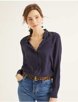 The Silk Shirt   Navy by Boden