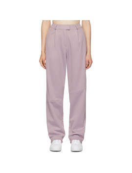 Purple Piqué Trousers by Adidas Originals By DaniËlle Cathari