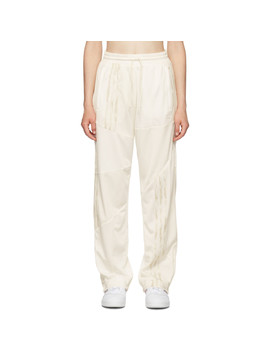 White Firebird Track Pants by Adidas Originals By DaniËlle Cathari
