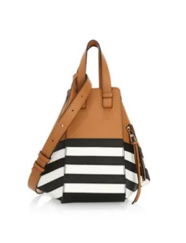 Small Hammock Marine Leather Bag by Loewe