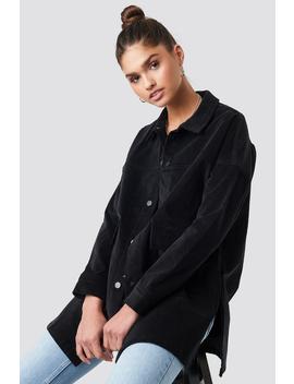 Corduroy Overshirt Jacket Black by Na Kd