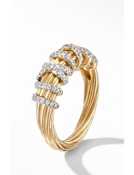 Helena Small 18 K Yellow Gold Ring With Diamonds by David Yurman
