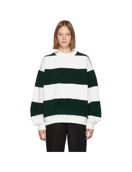 Green & White Oversized Sweater by Alexander Wang